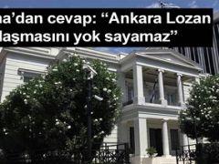 Erdoğan'ın Lozan Antlaşması Çıkışına Atina'dan Cevap