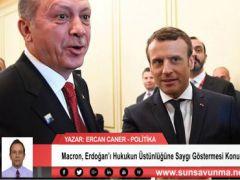 Macron, Erdoğan'ı Hukukun Üstünlüğüne Saygı Göstermesi Konusunda Uyardı