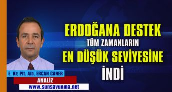 Erdoğan'a Destek Tüm Zamanların En Düşük Seviyesine İndi
